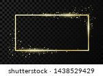 golden frame template with... | Shutterstock .eps vector #1438529429