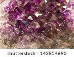 Amethyst Crystal In Detail