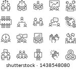 set of meeting icons  such as ... | Shutterstock .eps vector #1438548080