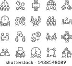set of meeting icons  such as ... | Shutterstock .eps vector #1438548089