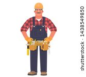 handyman or builder. a man in a ... | Shutterstock .eps vector #1438549850