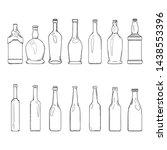 vector set of sketch empty... | Shutterstock .eps vector #1438553396