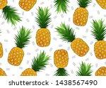 pineapple seamless pattern on...   Shutterstock .eps vector #1438567490