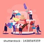 male and female perfumer...   Shutterstock .eps vector #1438569359