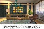 interior of the living room. 3d ...   Shutterstock . vector #1438571729