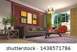 interior of the living room. 3d ... | Shutterstock . vector #1438571786