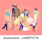 tiny characters on ladders... | Shutterstock .eps vector #1438572776