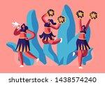 cheerleaders team in uniform... | Shutterstock .eps vector #1438574240