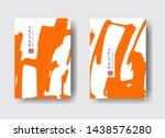 cool vector bright poster set... | Shutterstock .eps vector #1438576280
