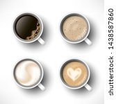 cups of coffee assortment set.... | Shutterstock .eps vector #1438587860