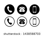 phone icon vector. phone icons... | Shutterstock .eps vector #1438588703