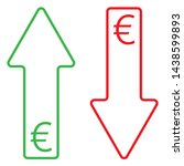 icon of euro growing and...