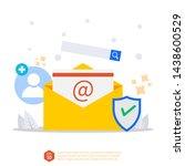 email inbox vector concept....   Shutterstock .eps vector #1438600529