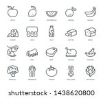 food icons   monoline concept... | Shutterstock .eps vector #1438620800