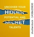 yellow torn paper over blue... | Shutterstock .eps vector #1438620830