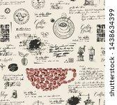 vector seamless pattern on the... | Shutterstock .eps vector #1438634399