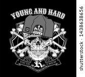 skull young hard wearing cap. ...   Shutterstock .eps vector #1438638656