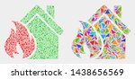 house fire damage collage icon...   Shutterstock .eps vector #1438656569