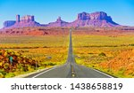 View Of Monument Valley On A...