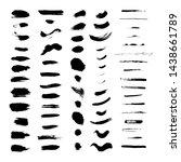 a set of black brush strokes... | Shutterstock .eps vector #1438661789