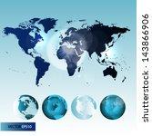 world map | Shutterstock .eps vector #143866906