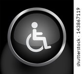 wheelchair handicapped symbol... | Shutterstock . vector #143867119