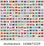all national flags of the world ... | Shutterstock .eps vector #1438672229