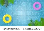 summer swimming pool. yellow... | Shutterstock .eps vector #1438676279