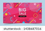 big sale colorful banner with... | Shutterstock .eps vector #1438687016