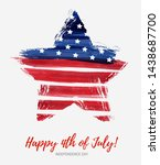 usa happy 4th of july...   Shutterstock .eps vector #1438687700