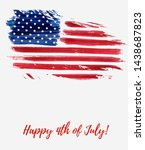 usa happy 4th of july...   Shutterstock .eps vector #1438687823
