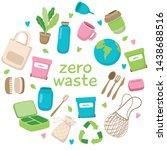 zero waste concept illustration ... | Shutterstock . vector #1438688516