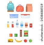 lunchbox illustration set  ... | Shutterstock . vector #1438688519