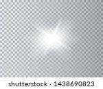 white glowing light burst... | Shutterstock .eps vector #1438690823