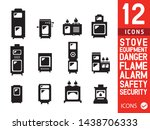 set of stove vector icon  iron... | Shutterstock .eps vector #1438706333