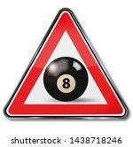 Black Billiard Ball With The...
