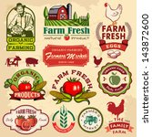 agriculture,badge,barn,carrot,chicken,collection,corn,cow,crop,design,eco,eggs,element,farm,farmer