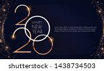 happy new 2020 year  elegant... | Shutterstock .eps vector #1438734503