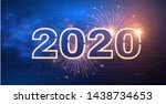 happy new 2020 year  winter... | Shutterstock .eps vector #1438734653