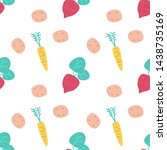 seamless pattern with... | Shutterstock .eps vector #1438735169