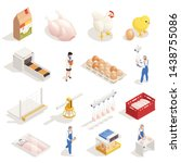 chicken poultry production farm ...   Shutterstock .eps vector #1438755086