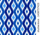 uzbek ikat silk fabric pattern  ... | Shutterstock .eps vector #1438757423