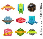 set of labels and badges. sale... | Shutterstock .eps vector #1438771076