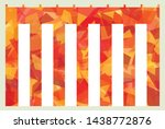 red and white curtain for... | Shutterstock .eps vector #1438772876