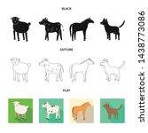 vector design of breeding and... | Shutterstock .eps vector #1438773086