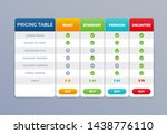 comparison pricing table list.... | Shutterstock .eps vector #1438776110