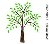 stylized tree | Shutterstock .eps vector #143879950
