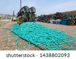 A Stack Of Lobster Pots And...