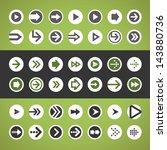 flat design ui arrow circle...