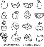 collection of thin line icons... | Shutterstock .eps vector #1438831520